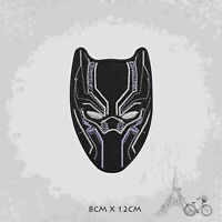 Black Panther Superhero Movie Logo Iron On Patch Sew On Embroidered Patch Badge