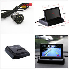 """Car SUV Rear View Backup 4.3"""" Foldable Display Monitor+ 8LED Night Vision Camera"""