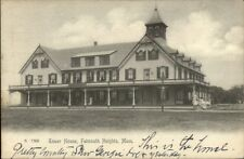 Falmouth Heights Cape Cod MA Tower House c1910 Postcard - Used
