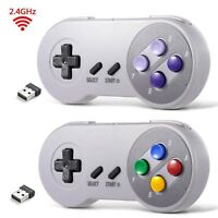 Lot 1/2 USB Wireless SNES Controller Gamepad & Receiver for PC MAC Raspberry Pi