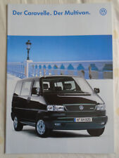 VW Carravelle & Multivan range brochure Feb 1996 German text