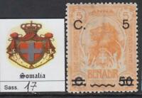 ITALY SOMALIA 1916 Definitive set  Sass. n.17 cv 85$  MH*