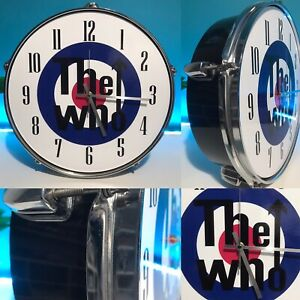 """The Who Wall Srum Clock 13"""" Band Cave Music Mod Scooter"""