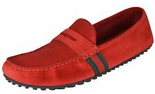 24a558b4e4b1e9 NEW Gucci Men s 407411 Red Suede Green Red Web Drivers Loafers Shoes ...