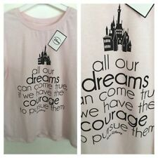 Disney Cotton Crew Neck Basic T-Shirts for Women