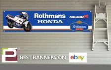 Rothmans honda moto NS400r bannière pour atelier, garage, pit lane, rétro