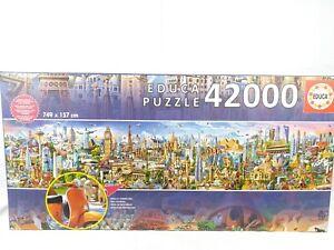 42000 Piece Jigsaw Puzzle EDUCA 17570 Around the World Landmarks 7.5m x 1.5m New