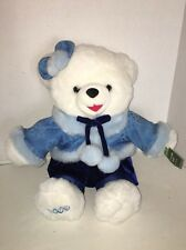"2009 Wal Mart Christmas White Girl 20"" Blue Cothes Snowflake Teddy Bear NWT"