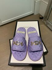 Brand New Very Rare Gucci Lilac Slippers Slides