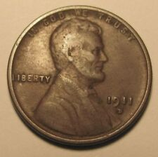 1911 D LINCOLN WHEAT CENT IN VERY FINE CONDITION VF