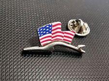 Porsche Pin Silhuette Flagge USA 28x15mm limitierte Auflage