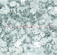 1000 Sew On Crystal Rhinestones Diamante Gems Acrylic Silver Flatback Trimmings