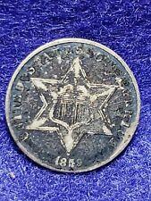 1859 Three Cent Silver FINE -  L@@K NICE COIN