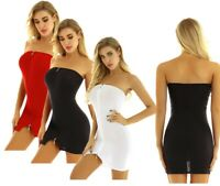 Sexy Women Bodycon Dress Strapless Mini Dresses Evening Party Cocktail Clubwear