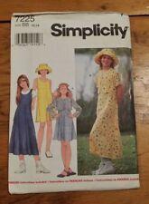 SIMPLICITY GIRLS COAT JUMPTER HAT PATTERN 7225 SIZE 12-14 UNCUT FREE SHIPPING