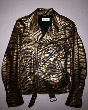 "SAINT LAURENT PARIS ""PROTOTYPE SS15 ""GOLD TIGER"" LEATHER JACKET by HEDI SLIMANE"