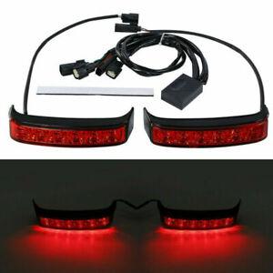 Red Black LED Saddlebag Run Brake Turn Light For Harley Electra Glide 2014-2020