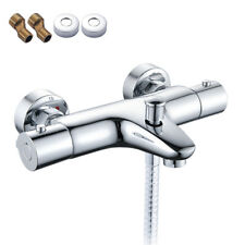 Wall Mounted Thermostatic Bathroom Taps Bath Shower Bar Mixer Valve Brass Tap