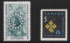 Canada Scott #446-47, Singles 1966 Complete Set FVF MH