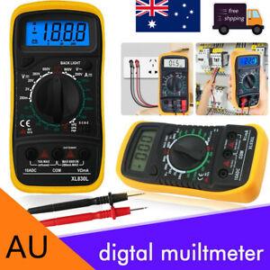 LCD Digital Multimeter Electrical Meter AC/DC Voltmeter Current OHM Multi Tester