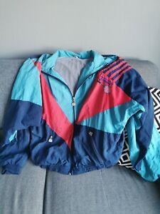 Unisex Tennis Vintage Retro 1980s Shell suit Jacket size Large