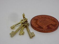 1:12 Scale Set Of Four Keys Dolls House Miniature