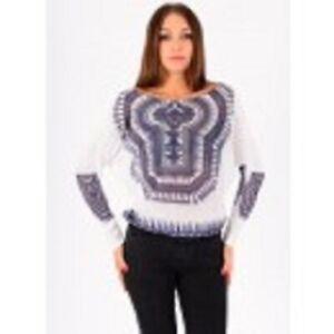 Gestrickten Pullover TRIBAL 5150 Farbe: Weiß M
