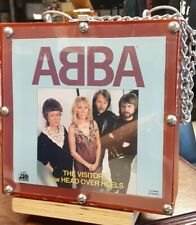 Abba-One Of A Kind 45 Holder Filled With Rare Abba 45'S - A Real Fan Treasure