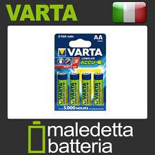 Batterie Stilo Ricaricabili AA Pronte All'uso VARTA  2100mAh Alta Qualità (OT5)