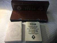 Vintage Marlboro Texan Poker Cards Double Deck W/Case Free Shipping!