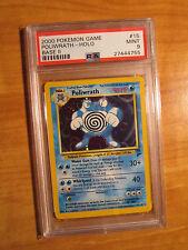 psa-9 pokemon poliwrath CARTE Base-2 Set 15/130 holo rare 2000 état neuf TCG
