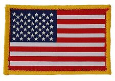 US Flag Tactical Patch 3x2 inches Fabric on Hook-and-Loop fastener back