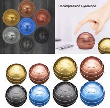 Rotating Ball Spherical Desktop Fidget Spinner Metal Ball Kids Toy Gift New Uk