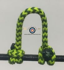 1 Pack- Speckled  Flo Yellow/Black  Archery Release Bow String D Loop, BCY #24
