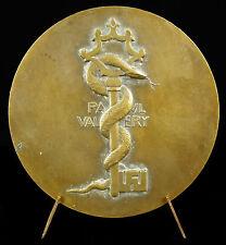 Medaille Paul Valéry écrivain poète philosophe clef serpent, Delannoy 1934 medal