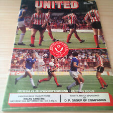 SHEFFIELD UNITED V WIGAN ATHLETIC 1983/84 - DIVISION THREE PROGRAMME