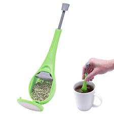 Tea Infuser Strainer Leaf Steeper Press Herbal Spice Filter Diffuser PP Gadgets