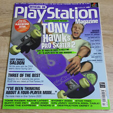 OFFICIAL UK PLAYSTATION MAGAZINE ISSUE NO.58--TONY HAWK'S PRO SKATER 2 COVER