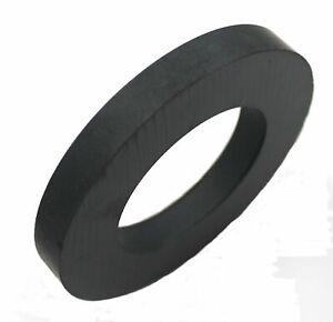 "Ferrite Donut / Ring Ceramic Magnet, Size  4"" OD, 2.33"" ID, 0.5"" Thick"
