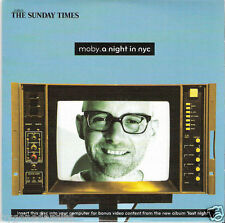 MOBY - A NIGHT IN NYC  THE TIMES 13 TRACK PROMO MUSIC CD(FREE UK POST)