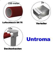 Antistatisch Antibakteriell Rohbauset 150m² DN 75 Rohbaupaket Lüftungsanlage