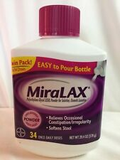 Miralax Laxative Unflavored Grit Free SF Powder 34 Doses 20.4 Oz EXP 10/19