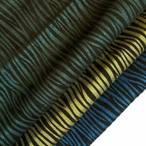 Shiny Zebra Stripes// Various Colors Leather Pieces //Genuine Leather With Strip