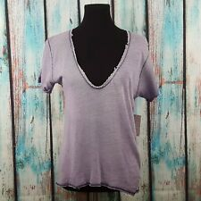 Free People Women's Top T-Shirt Saturday Tee Burnout Slouchy Casual Boho Size XS