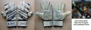 2015-16 Boaz Myhill Match Worn & Signed West Brom Goalkeeper Gloves Hull (20371)