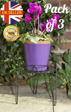 "Pack Of 3 8"" 20cm Wire Hairpin Legs Metal Plant Pot Stand Indoor Outdoors"