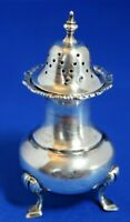 Antique 1912 Hallmarked WH Solid Sterling Silver Pepper Pot 9cm Tall 42.2g