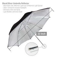 """33"""" Black/Silver Photo Umbrella Reflector Photo Video Reflector"""