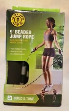 Golds Gym Jump Rope 9' Beaded With Foam Padded HandlesBrand New