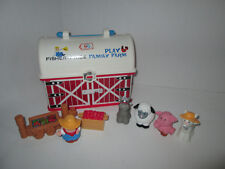Fisher Price Little People Farm Barn Animals Storage Case Vegetable Stand